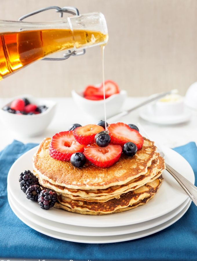Whole Wheat Quinoa Flour Pancakes