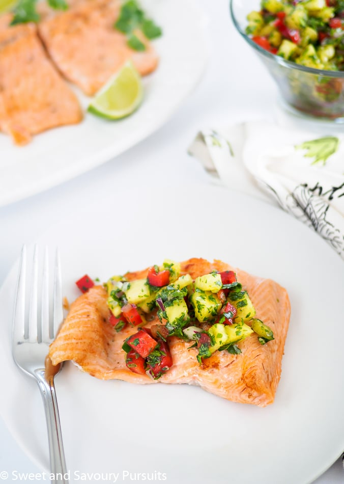 Pan Fried Rainbow Trout with Pineapple Salsa
