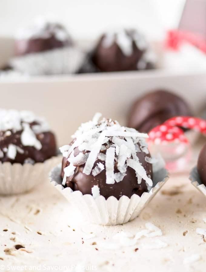 Double Chocolate Coconut Almond Truffles