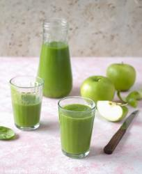 Smooth and creamy green Pineapple Spinach Smoothie