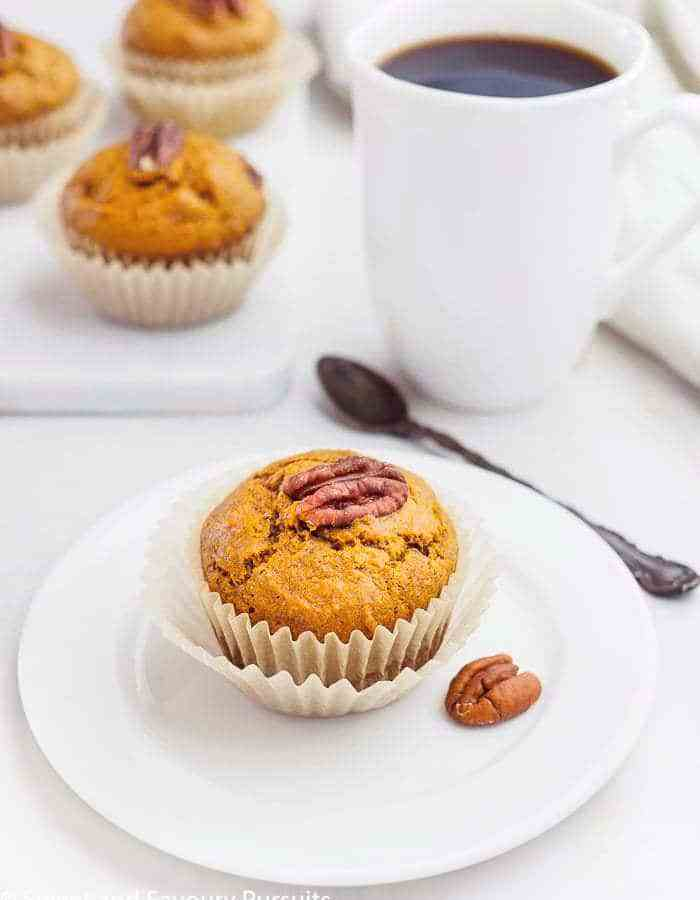A Sweet Potato Muffin on small dish.