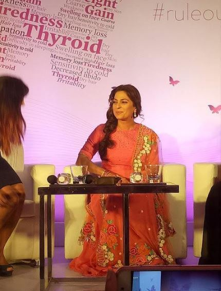 Actress Juhi Chawla at RuleoutThyroWeight bloggers Meet