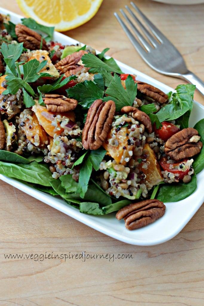 Lentils Quinoa Salad