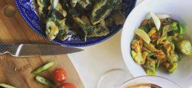 Vegan fried sage Italian food themed antipasto