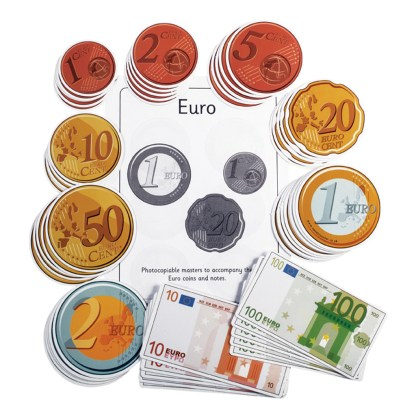 Euro Coins, pack of 5