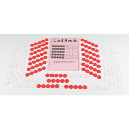 Pack of 30 Card Beads