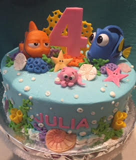 Nemo Sea Creatures Cake