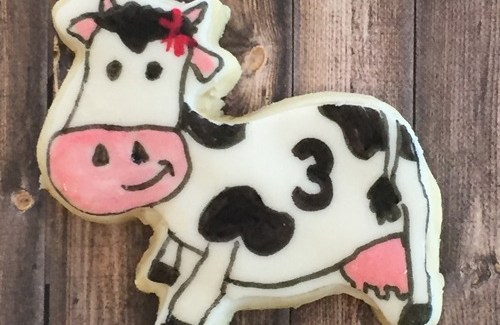 Cow Cutout Cookie