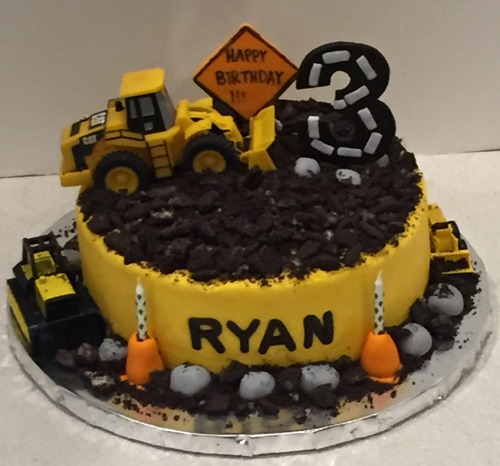 Road construction dirt cake