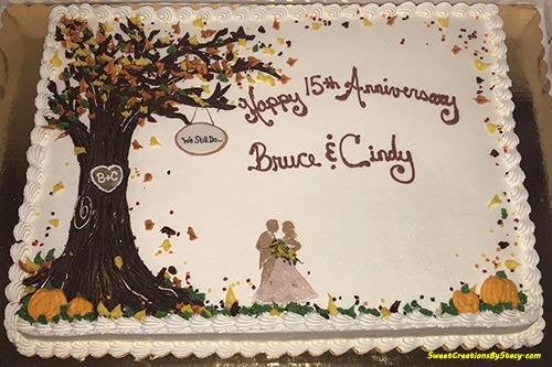 Autumn Anniversary Cake
