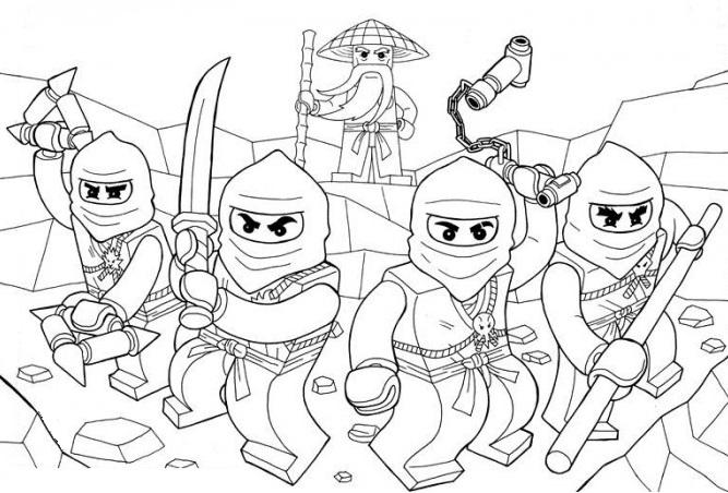 coloriage et dessin de ninjago a imprimer