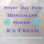 Snow Day Fun: How to Make Snow Ice Cream