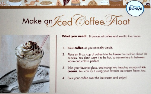 coffee float recipe card