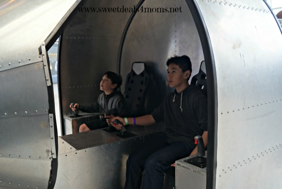 space museum boys playing