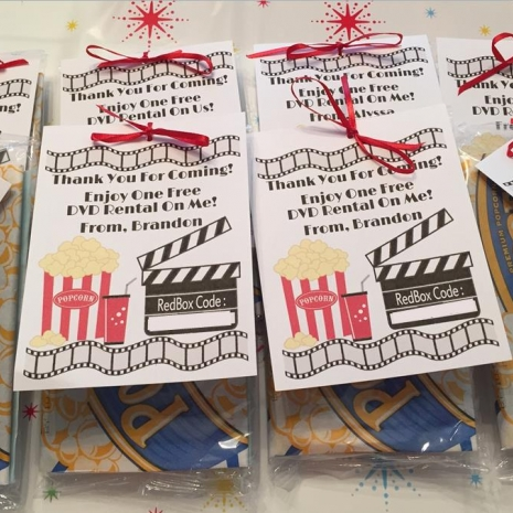 Redbox Party Favors Sweetdesignsbyregan