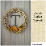 Simple Burlap Wreath (Autumn and Christmas Update)