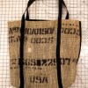 Burlap Beach Bag