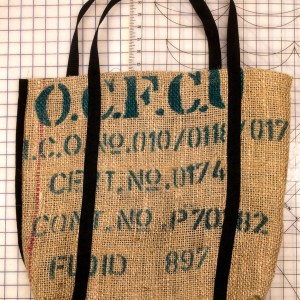 Coffe Burlap Bag