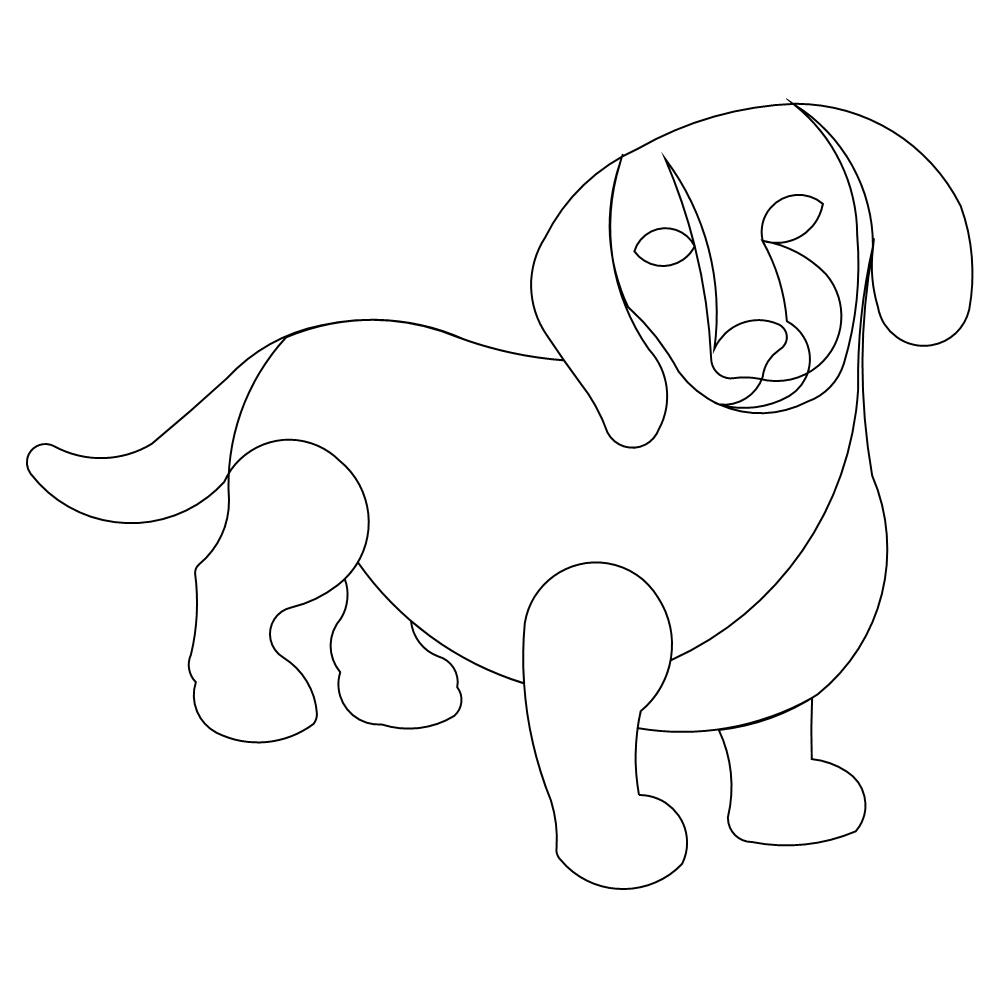 dachshund printable coloring pages cooloring com