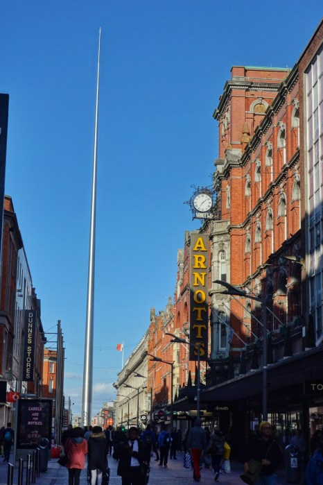O'Connell Street and Spire of Dublin