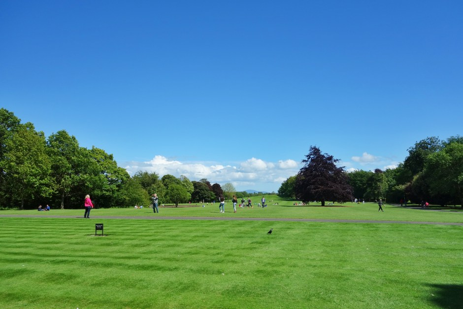 The perfect lawn at Kilkenny Castle