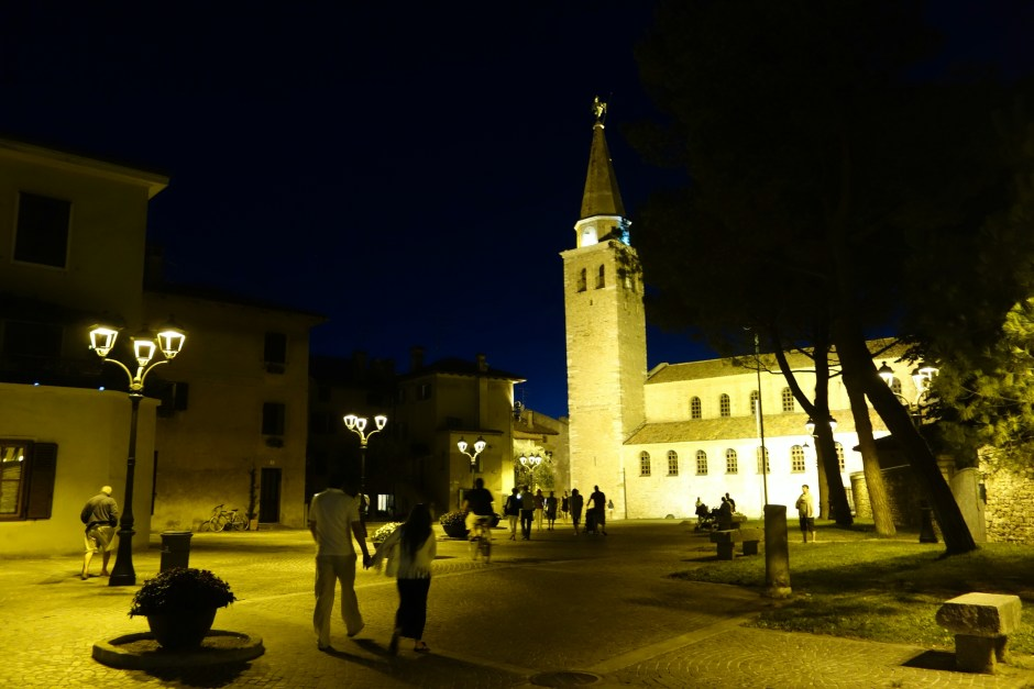 The main square at night