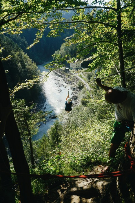 Ziplining Flying Fox Bregenzerwald