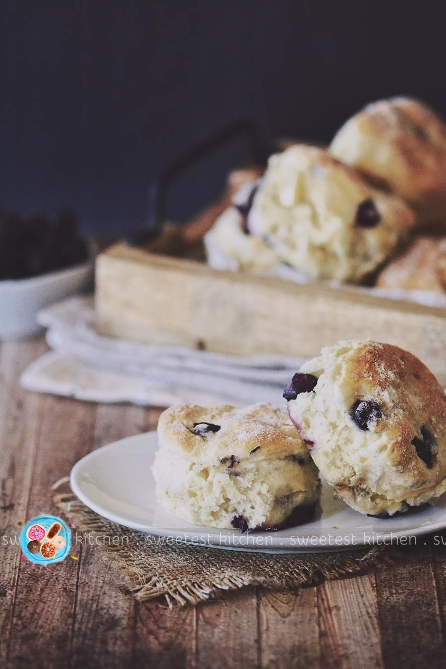 Blueberry Amp White Chocolate Ginger Beer Scones Sweetest Kitchen