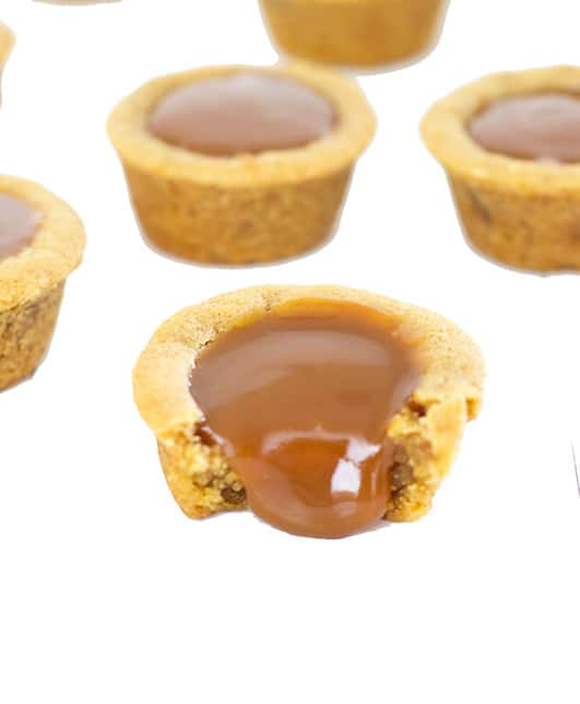 Caramel White Chocolate Cookie Cups