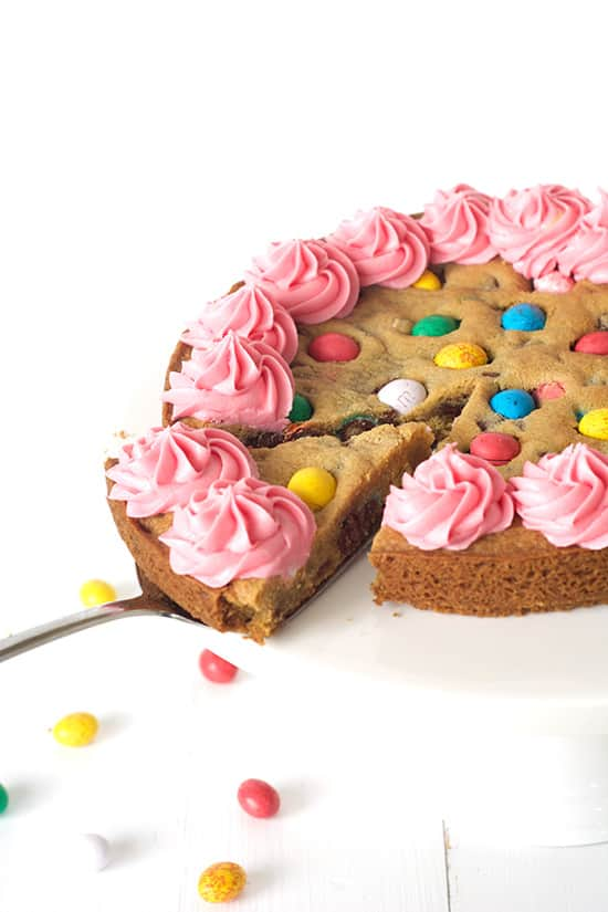 Easter Egg Cookie Cake