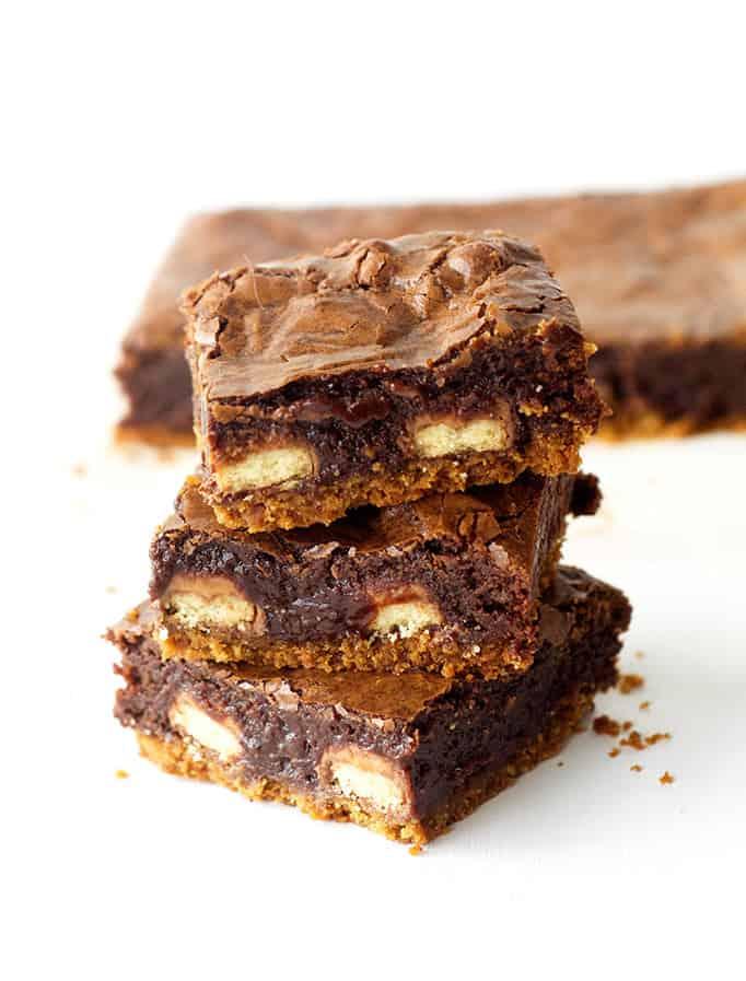 Loaded Twix Brownie Bars
