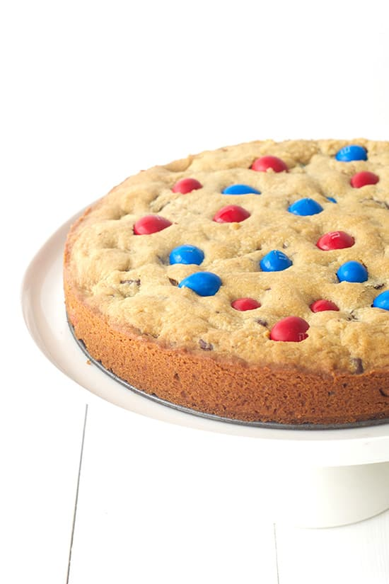 Fourth of July Peanut Butter Cookie Cake