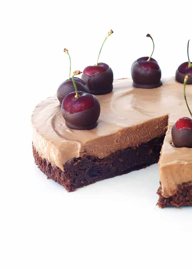 Chocolate Cherry Mousse Pie