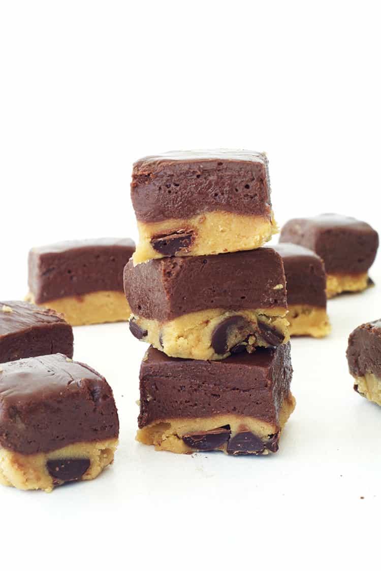 Cookie Dough Chocolate Fudgeq