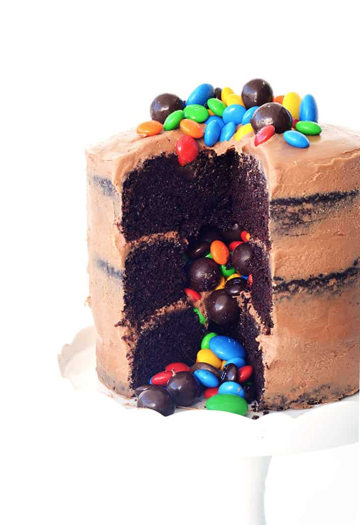 Chocolate Pinata Party Cake