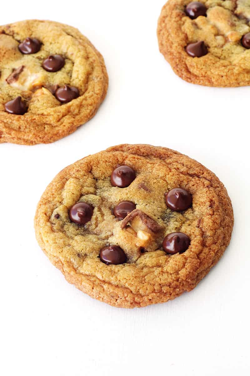 Seriously Crispy Chewy Snickers CookiesJump to Recipe