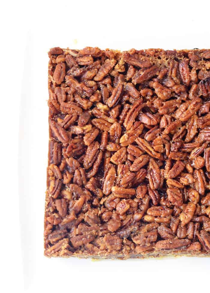 Maple Pecan Bars with Pretzel Crust