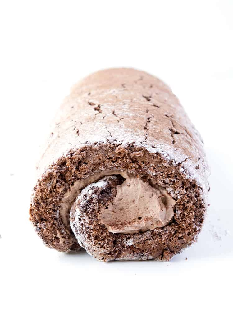 Chocolate Cake Roll with chocolate cream