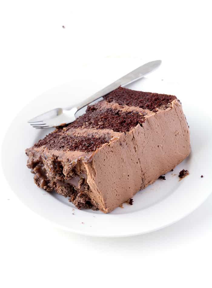 Death By Chocolate Layer Cake | via sweetestmenu.com