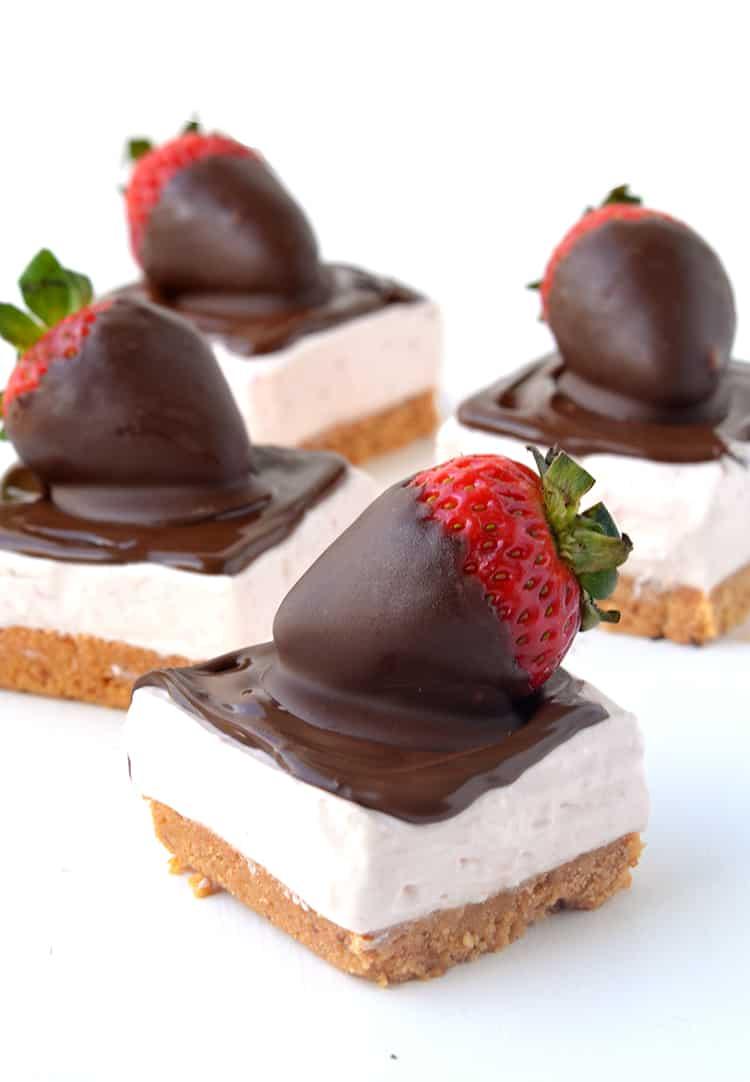 Strawberries and Cream Cheesecake Bars