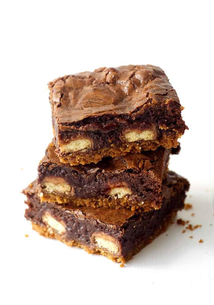 Loaded Twix Chocolate Brownie Bars - Sweetest Menu