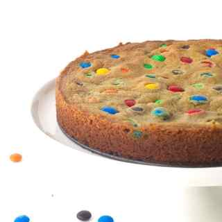 Oreo Stuffed M&M Cookie Cake