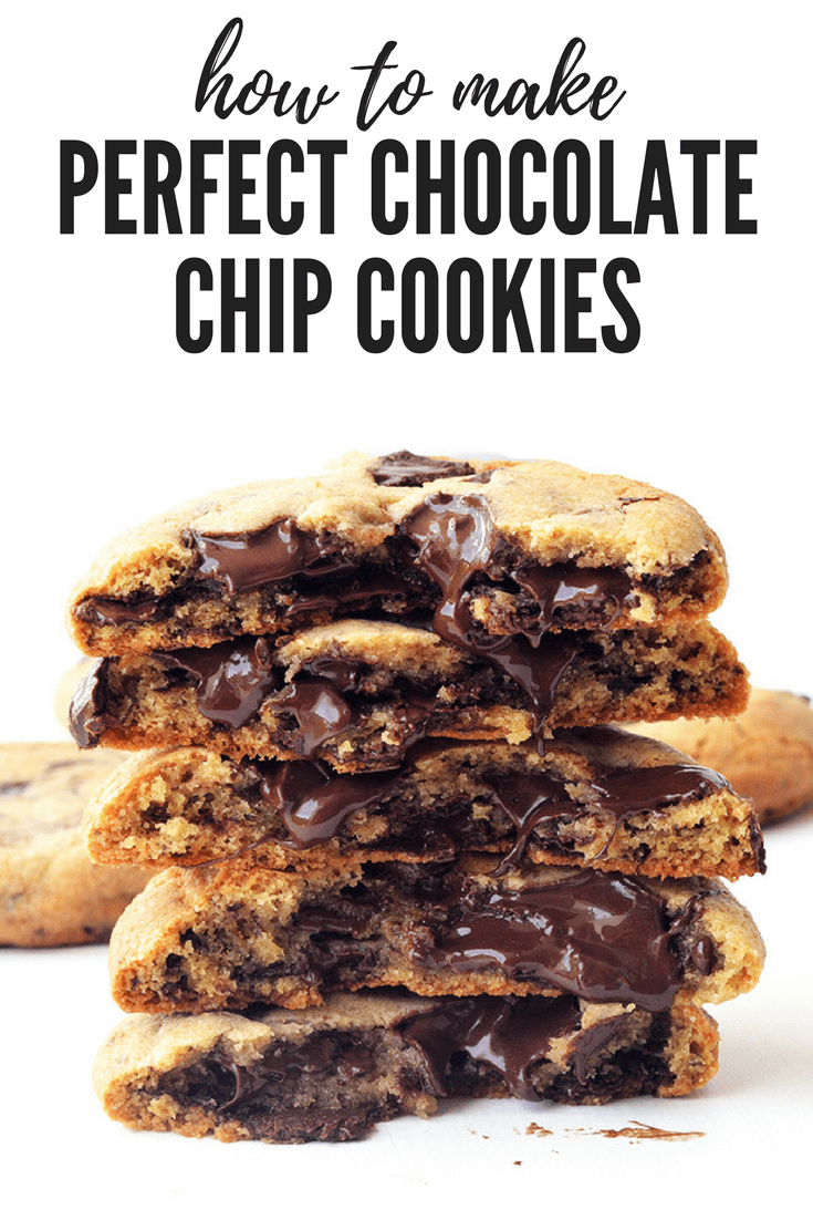 How to make perfect Chocolate Chip Cookies that everyone will love! Thick or thin, chewy or crunchy, learn how to make YOUR ultimate cookie. #cookie #cookies #chocolate #chocolatechip