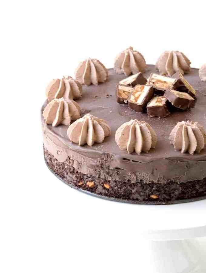 Snickers Chocolate Ice Cream Cake