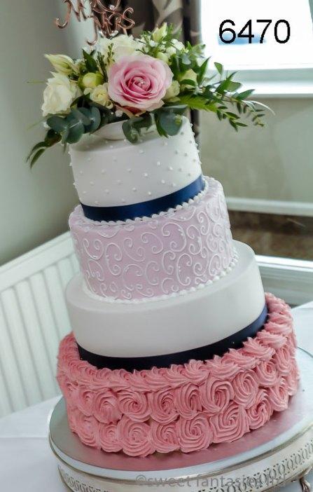 4 Tier Round Wedding Cake