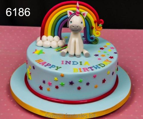 Cake with Rainbow