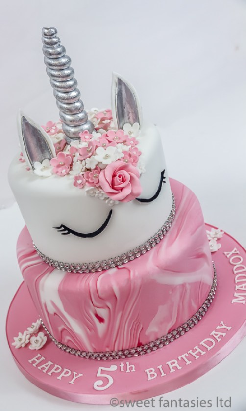 2 Tier Sugar Paste Covered Cake
