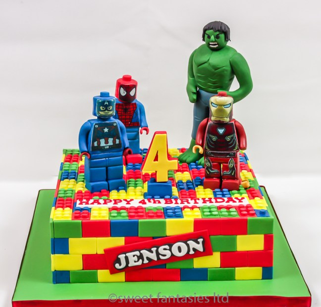Lego superheroes- Hulk,Ironman,spiderman,Captain America