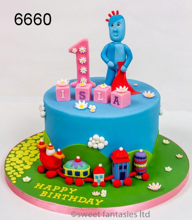 Girls 1st Birthday Cake - Iggle Piggle & The Ninky Nonk Train