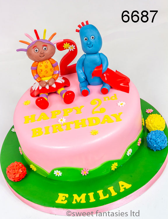 Girls 2nd Birthday Cake with Upsy Daisy & Iggle Piggle
